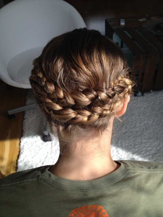 Oktoberfest braided hair